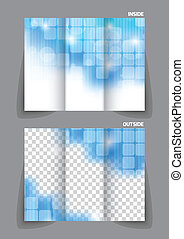 Technology tri fold brochure - Square tech blue mpdern...