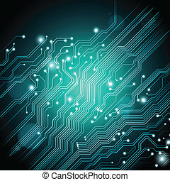 technology vector background with circuit board texture
