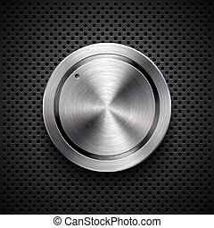 Technology Volume Button with Metal Texture