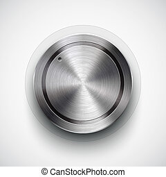 Technology volume button with metal texture - Abstract...