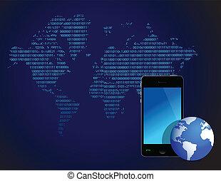 technology wallpaper design