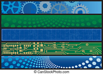 Technology Web Banners. Layered .eps file for easy editing