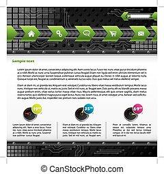 Technology web template design