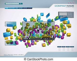 Technology website template.