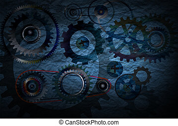 Technology with gears concept.