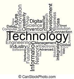 Technology word cloud, vector