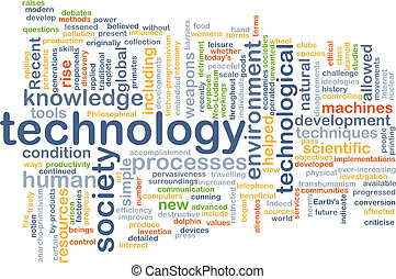 Technology wordcloud concept illustration