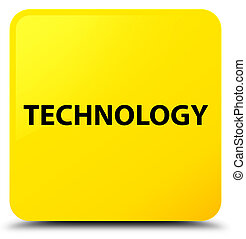 Technology yellow square button