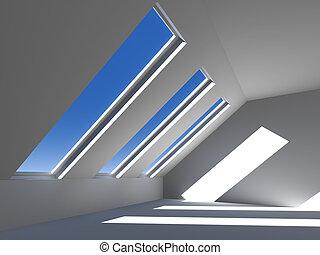 techo, 2, debajo