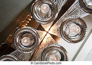 techo, moderno, iluminación