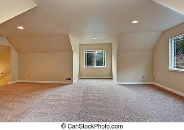 techo saltado, habitación, vacío