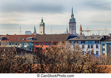techos, ciudad, munich