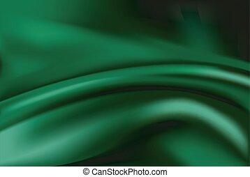 tecido, fundo, abstrato verde