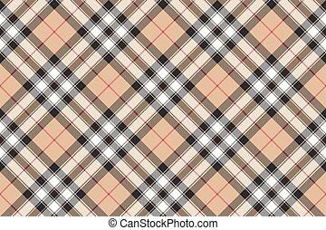 tecido, ouro, padrão, escócia, seamless, textura, diagonal, ...