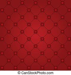 tecido, tufted, vermelho, capitone, upholstery, textura