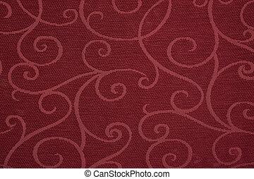 tecido, vermelho
