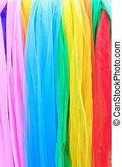 tecidos, multi-colorido