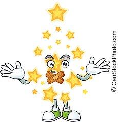tecken, tecknad film, stjärna, maskot, jul, tyst, gest, tillverkning, stil