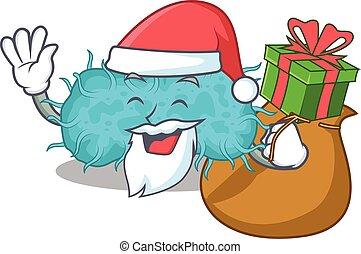 tecknad film, bakterie, design, julgåva, jultomten, ...