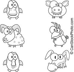 tecknad film, djuren