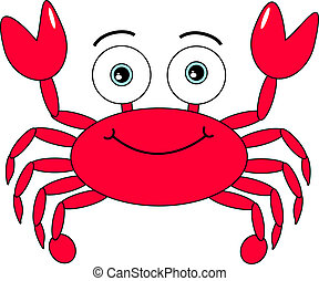 tecknad film, krabba