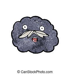 tecknad film, moln