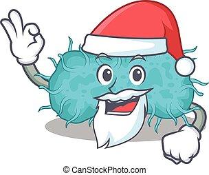tecknad film, ok, bakterie, finger, söt, tecken, jultomten, ...