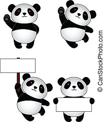 tecknad film, panda