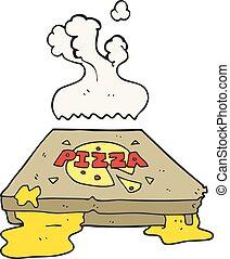 tecknad film, pizza