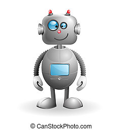 tecknad film, robot