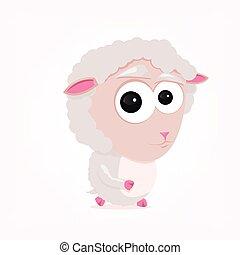 tecknad film, sheep