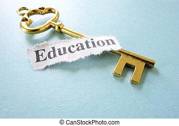 tecla, é, educação