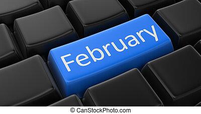 tecla, com, fevereiro