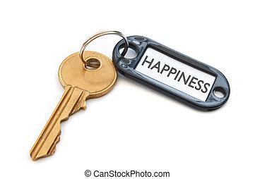 tecla, para, felicidade