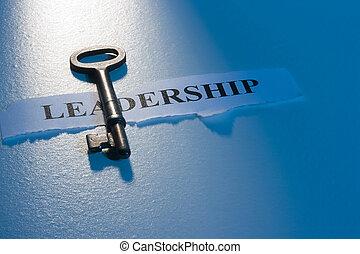 tecla, para, liderança