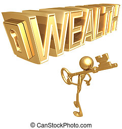 tecla, para, riqueza