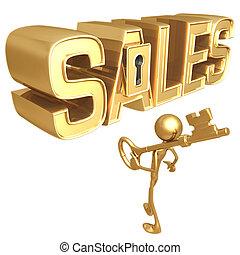 tecla, para, vendas