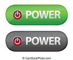 tecla poder, ícone