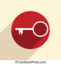 tecla, símbolo, ícone