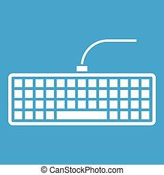 teclado, blanco, computadora, negro, icono
