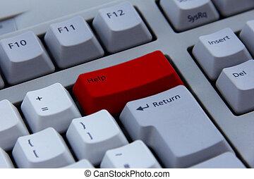 teclado, botón, ayuda