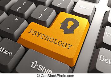 teclado, button., psicología