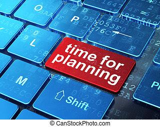 teclado computador, planificação, fundo, tempo, concept: