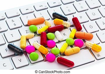 teclado, computadora, tableta