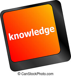 teclado, con, llave, knowledge., entrada de computadora, de, símbolos