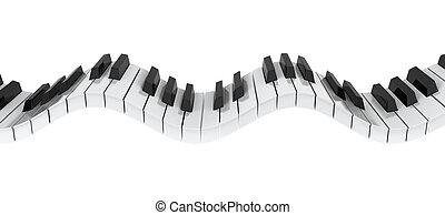 teclado del piano, onda