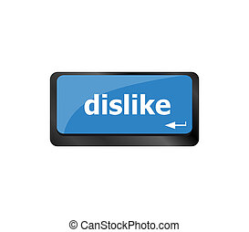 teclado, desagrado, tecla, conceitos, mídia, anti, social