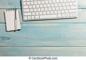 teclado, en, tabla