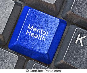 teclado, para, salud mental