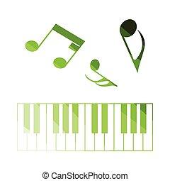 teclado piano, ícone